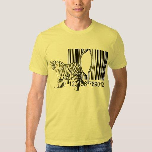 Le tigre drôle libèrent le vecteur t-shirts