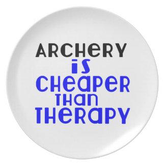 Le tir à l'arc est meilleur marché que la thérapie assiettes en mélamine