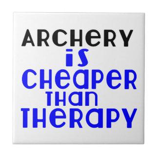 Le tir à l'arc est meilleur marché que la thérapie petit carreau carré