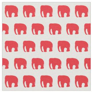 Le tissu de l'enfant rouge d'éléphant