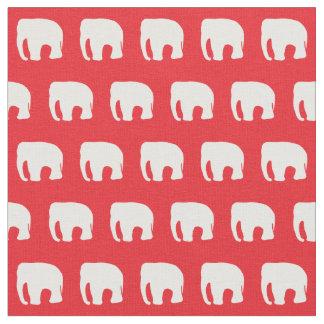 Le tissu des enfants rouges d'éléphant, tissu de