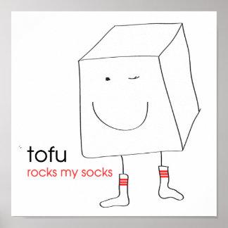 Le tofu bascule mes chaussettes affiche