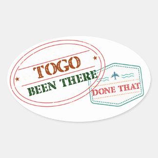 Le Togo là fait cela Sticker Ovale