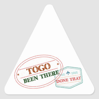 Le Togo là fait cela Sticker Triangulaire