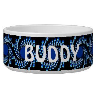 Le tourbillonnement bleu pointille (choisissez la écuelle pour chien
