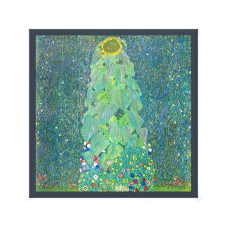 Le tournesol par Klimt, cru fleurit l'art Nouveau Toiles