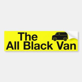 Le tout le Van noir : adhésif pour pare-chocs jaun Autocollant De Voiture