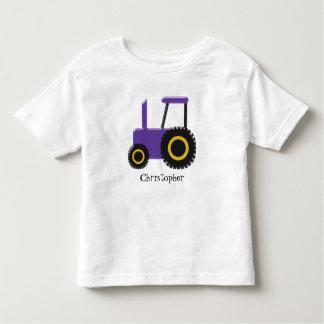 Le tracteur pourpre ajoutent juste le nom t-shirt pour les tous petits