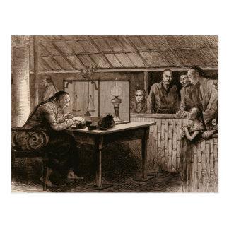 Le trafic d'opium carte postale