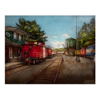 Le train - cambuse - des billets satisfont cartes postales