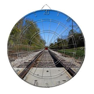 Le train de chemin de fer dépiste la photo jeux de fléchettes