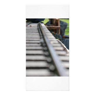 Le train dépiste le carte photo photocarte personnalisée