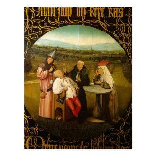 Le traitement de la folie par Hieronymus Bosch Carte Postale