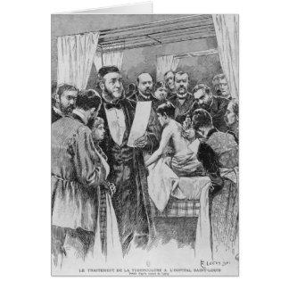 Le traitement de la tuberculose carte de vœux