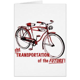 Le transport de l'avenir carte de vœux