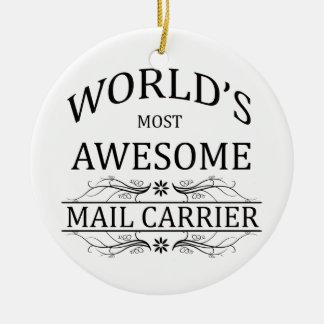 Le transporteur de courrier le plus impressionnant ornement rond en céramique