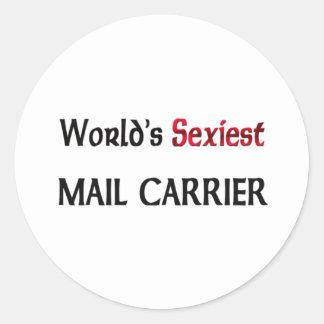 Le transporteur de courrier le plus sexy du monde sticker rond