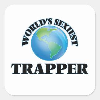 Le trappeur le plus sexy du monde autocollant carré