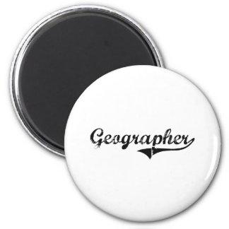 Le travail de professionnel de géographe aimants