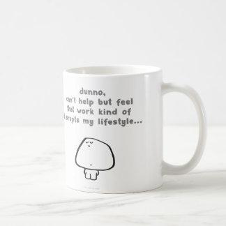 le travail de vimrod perturbe le mode de vie tasses à café