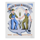 Le travail paye l'Amérique WPA 1939 Poster