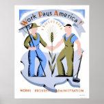 Le travail paye l'Amérique WPA 1939 Posters