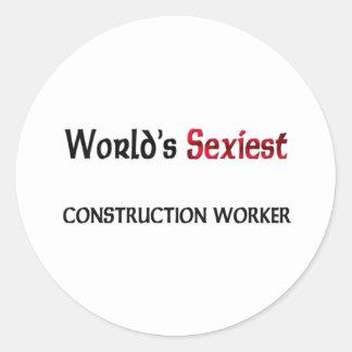 Le travailleur de la construction le plus sexy du autocollants