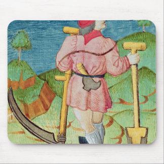 Le travailleur tapis de souris