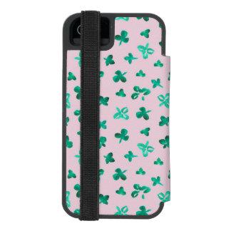 Le trèfle laisse la caisse de portefeuille de coque-portefeuille iPhone 5 incipio watson™