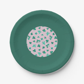 """Le trèfle part de 7"""" la plaque à papier assiettes en papier"""