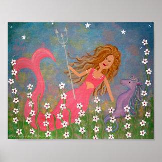 Le trésor de Neptune - le cheval de la sirène 8x10 Posters