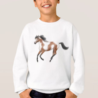 Le tri cheval de peinture badine le sweatshirt