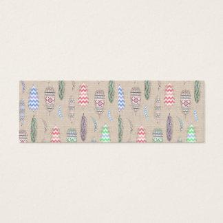 Le tribal fait varier le pas du motif turquoise mini carte de visite