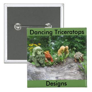 Le Triceratops de danse conçoit le bouton de Pin's