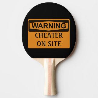 Le tricheur d'avertissement drôle de ping-pong raquette tennis de table