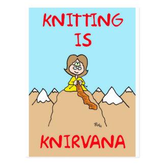 le tricot est gourou de knirvana cartes postales
