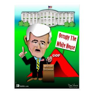 Le triton occupent la Maison Blanche Carte Postale