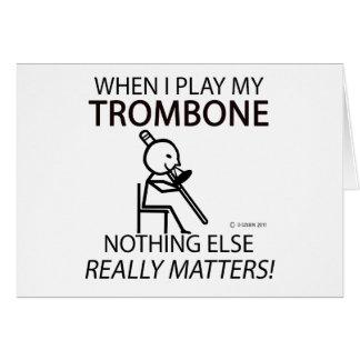 Le trombone rien d'autre importe carte de vœux
