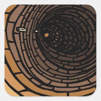 Le tunnel sticker carré