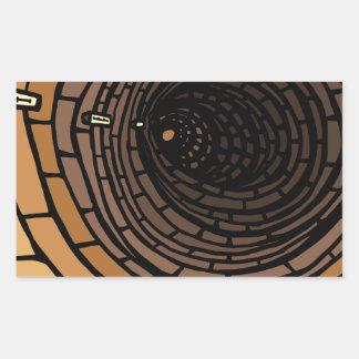 Le tunnel sticker rectangulaire