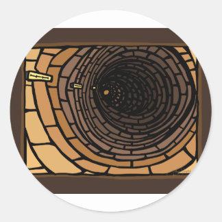 Le tunnel sticker rond