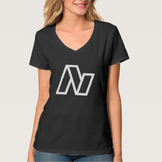 Le V-cou des femmes de logo d'avalanche T-shirts