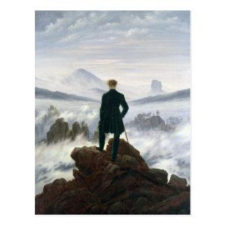 Le vagabond au-dessus de la mer du brouillard carte postale