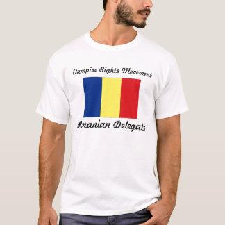 Le vampire redresse le mouvement - délégué roumain t-shirt