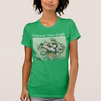 Le vase à Van Gogh avec le cru rose de roses T-shirt