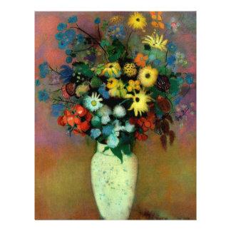 Le vase d'Odilon Redon avec Flowers (1914) Prospectus 21,6 Cm X 24,94 Cm
