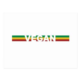 Le végétalien barre Rasta Carte Postale