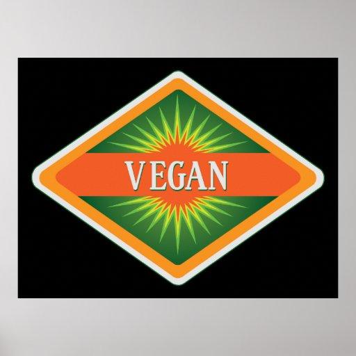 Le végétalien colore le logo affiches