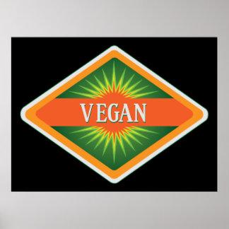 Le végétalien colore le logo posters