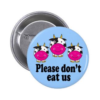 Le végétalien mignon effraye le bouton badge rond 5 cm